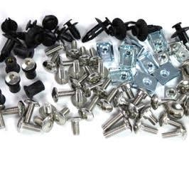 Yamaha TZR125 R 1988 stainless steel screen motorcycle fairing bolts kit